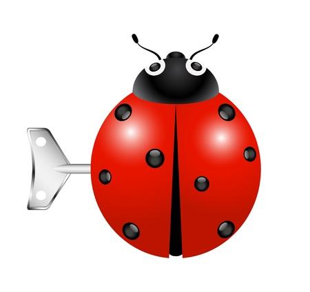 lady beetle: Retro toy – Ladybug with key