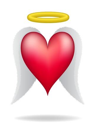 corazon con alas: Coraz�n con alas y halo