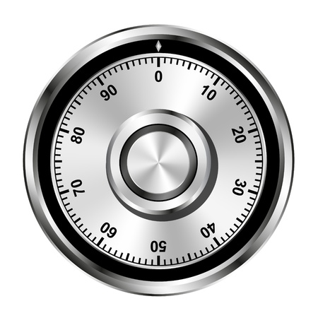 Realistic safe combination lock wheel Vector