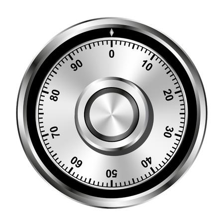 Realistische veilig cijferslot wiel