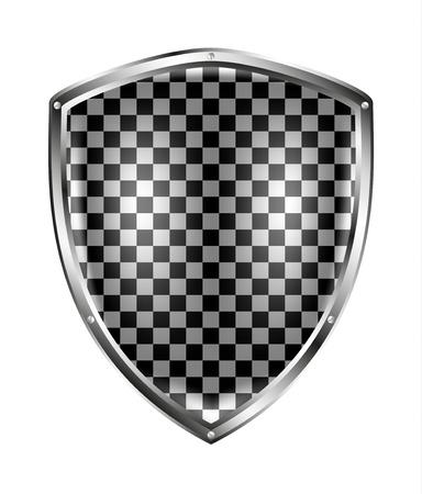 Metallic shield in black and white design Stock Vector - 12793140