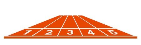 record breaking: Running track - start position