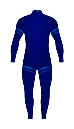 swim wear: Diving suit  Illustration