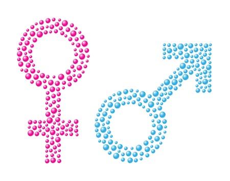 simbolo uomo donna: Segno femminile e maschile Vettoriali
