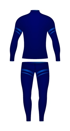 Sports suit  consisting of a long sleeved t-shirt and trousers