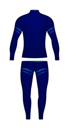 dress coat: Vestito sportivo costituito da una manica lunga t-shirt e pantaloni