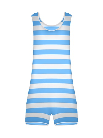 Striped retro swimsuit Stock Vector - 12793172
