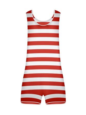 white underwear: Striped costume da bagno retr� Vettoriali