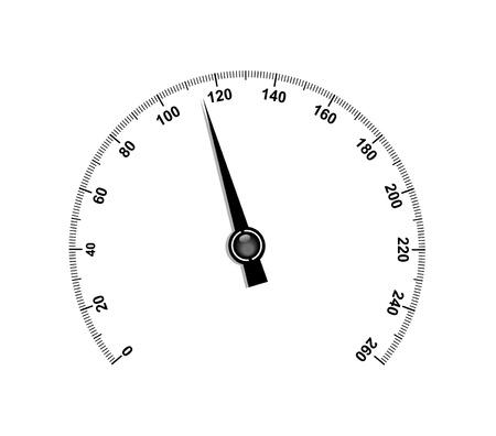 compteur de vitesse: Tachymètre à aiguilles Illustration