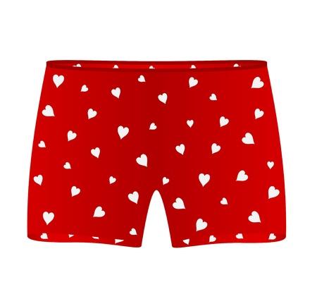 Men heart boxer shorts