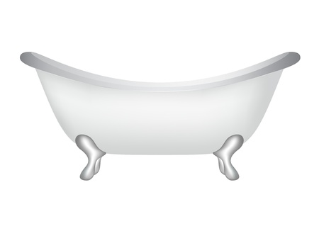 bath treatment: Retro bath Illustration