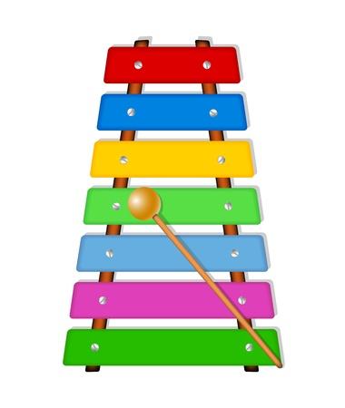 xylophone: Colorful xylophone