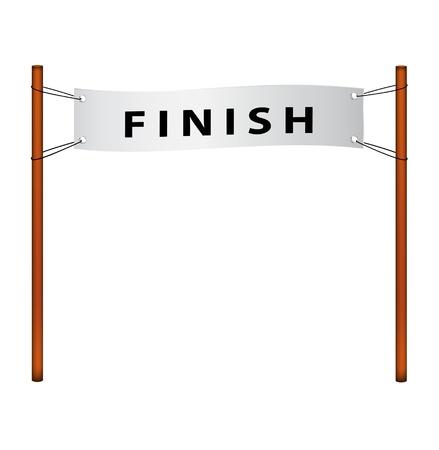 acabamento: Finish line � ribbon with finish Ilustra��o