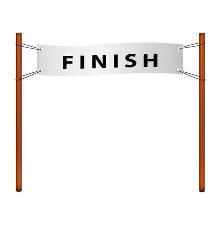 achieve goal: Finish line � ribbon with finish Illustration