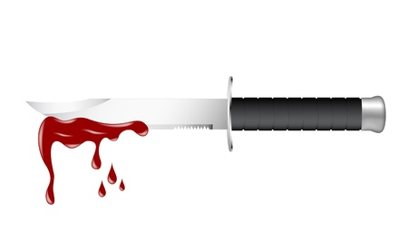 Knife with blood Stock Vector - 13152635
