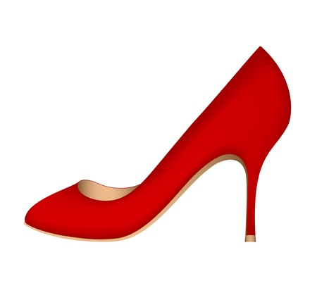 Luxury red shoe Vector