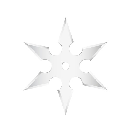 Ninja star - shuriken Vector