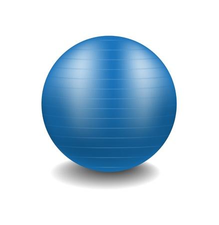 Blue gym ball Stock Vector - 13906350