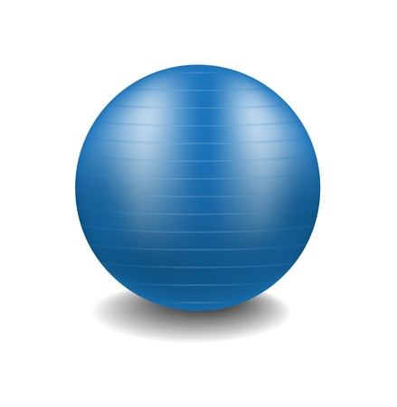 elastic: Blue gym ball
