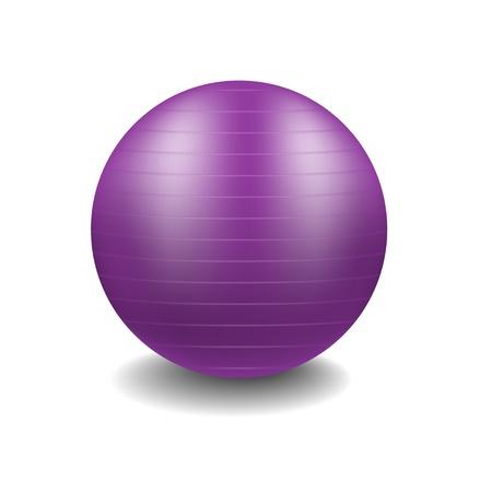 紫ジムボール  イラスト・ベクター素材