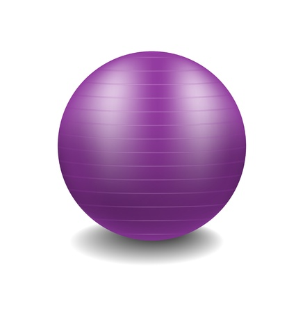 Purple gym ball Stock Vector - 14017493