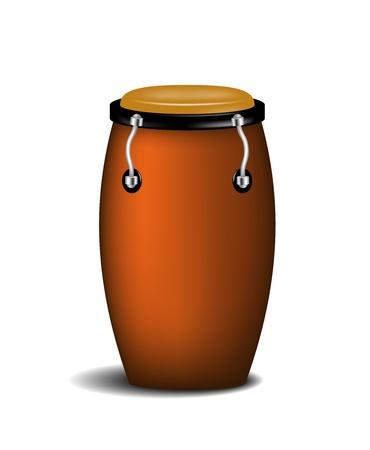 콩가 타악기 음악 악기 일러스트