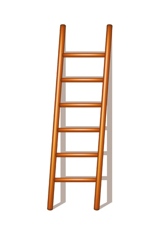 step up: Wooden ladder Illustration