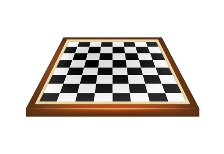 chess player: Empty chess board