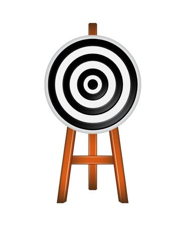 dart on target: Black target Illustration