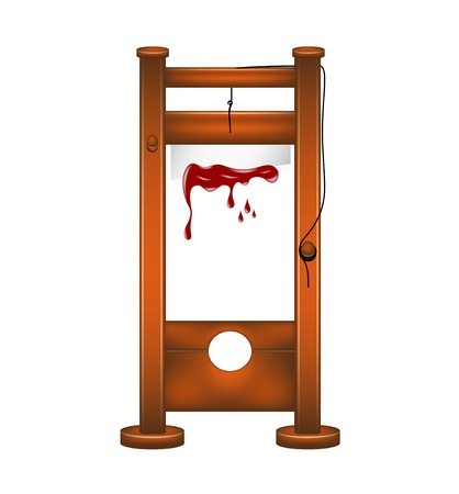 punisher: Guillotine with bloody blade