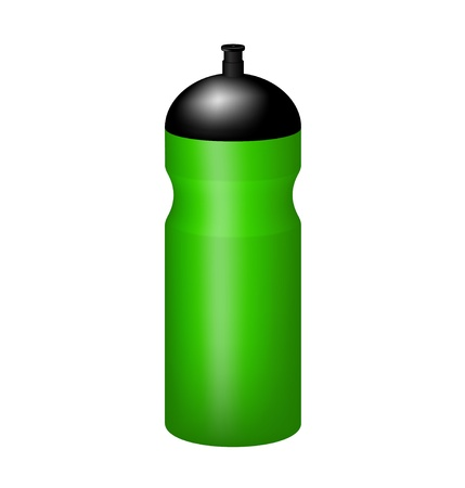 Sport plastic water bottle Illustration