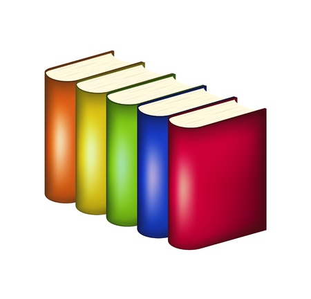Books in multicolored covers Stock Vector - 14656467