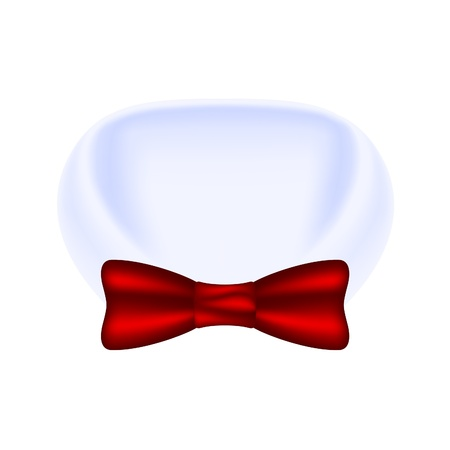 formal shirt: Collar of shirt and bow tie