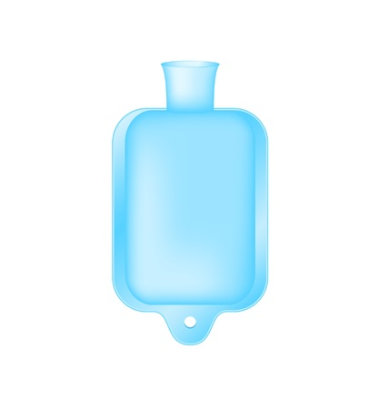 hot water bottle: Hot water bottle Illustration