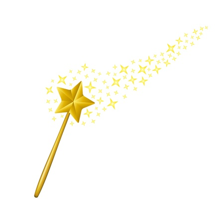 star wand: Magic wand Illustration