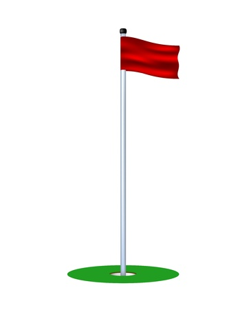 sports flag: Golf agujero