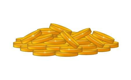 pile of coins: A pile of coins Illustration