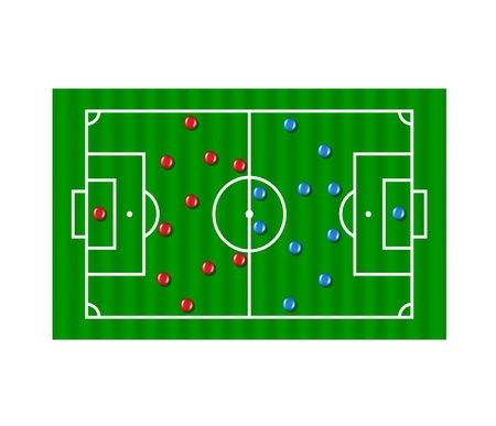 Football formation tactics  Vector