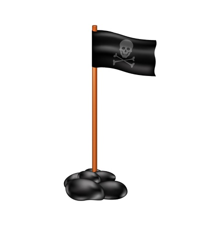 Pirate flag Stock Vector - 15171616