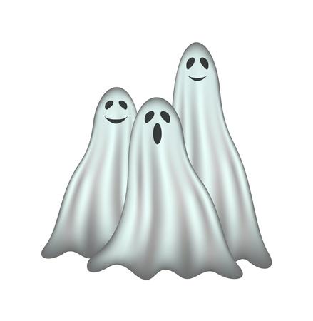 Three ghosts Stock Vector - 15383407