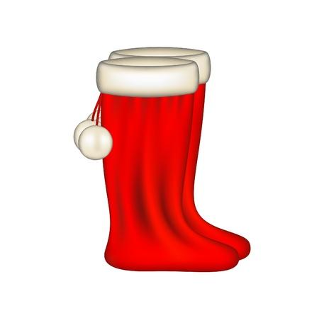 Santa Claus boots Stock Vector - 15469178