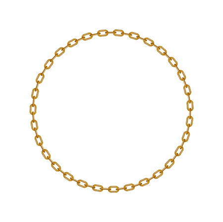 Golden chain in shape of circle