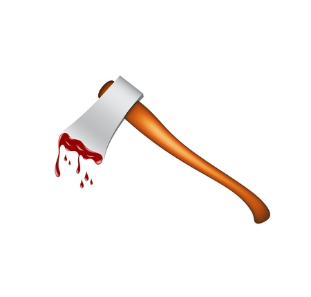 Realistic axe with blood  Stock Vector - 15754656