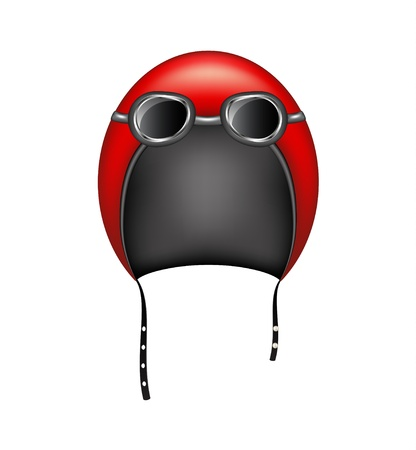 Retro motorcycle helmet and goggles Stock Vector - 15911406
