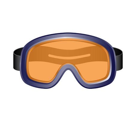 Lyžařské sportovní brýle Ilustrace