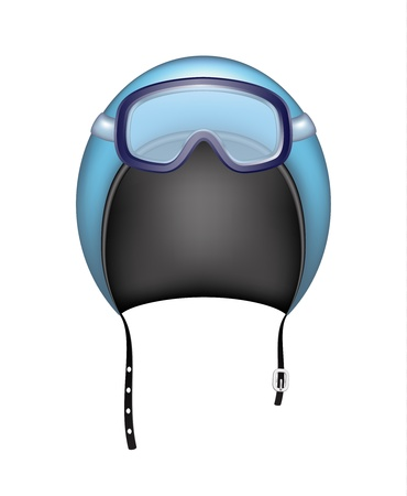 Protective helmet and ski sport goggles Illustration