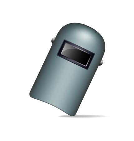 soldadura: M�scara de protecci�n para soldadura Vectores