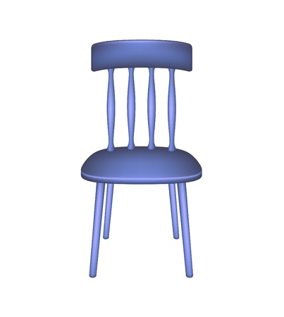 chair wooden: Blue chair