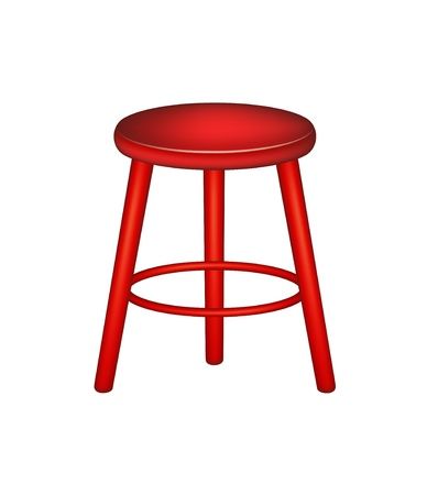 stool: Retro wooden stool Illustration