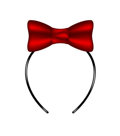 Headband with bow Vector